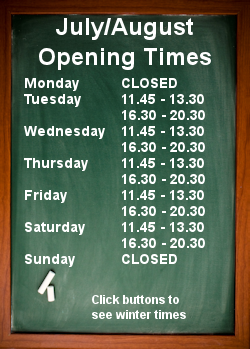 Summer Opening Times 3