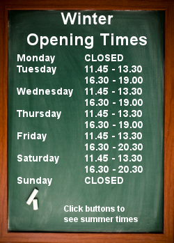 Winter Opening Times 3